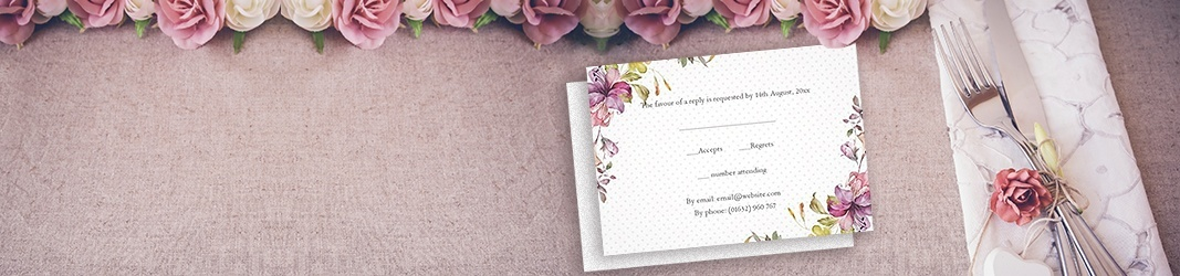 Response cards for weddings and other events